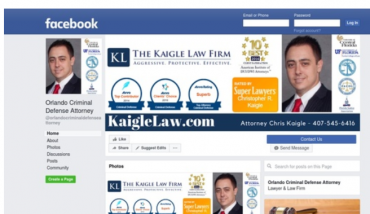 Kaigle Law Firm is on Facebook Check us out @OrlandoCriminalDefenseAttorney