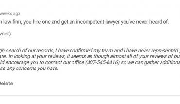 Responding to a Fake Review by the Best Criminal Defense Attorney in Orlando